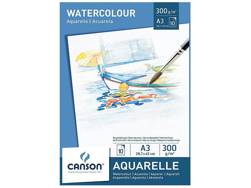 Acheter Bloc papier blanc Canson Aquarelle A3 - 300g/m² - 11,99€ en ligne sur La Petite Epicerie - 100% Loisirs créatifs