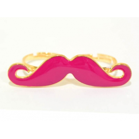 A pink moustache double ring