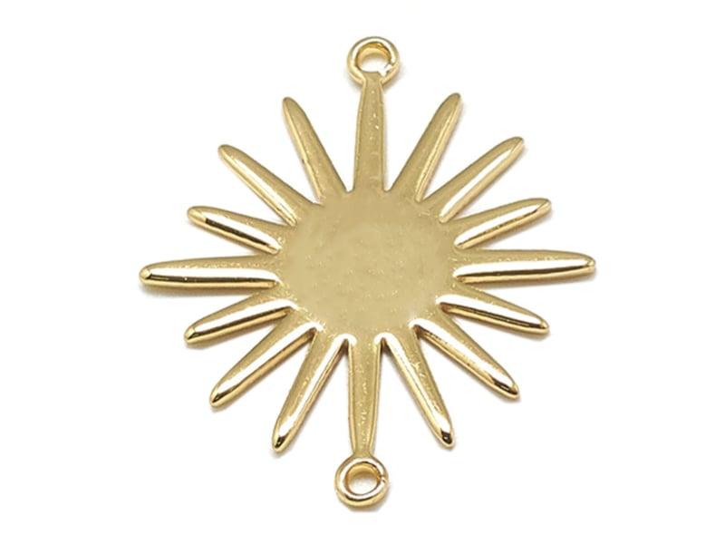 Acheter Pendentif soleil - doré à l'or fin - 1,89€ en ligne sur La Petite Epicerie - Loisirs créatifs