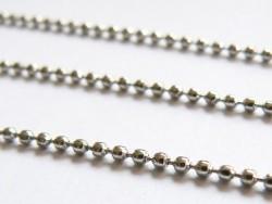 1m chaine bille 1,5 mm - couleur argent foncé