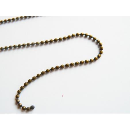 Acheter Chaine bille couleur bronze 1,5 mm x 20 cm - 0,40€ en ligne sur La Petite Epicerie - 100% Loisirs créatifs