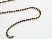 1m chaine bille couleur bronze 1,5 mm
