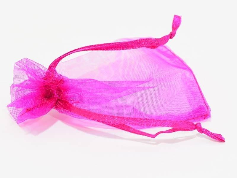 Acheter Pochette rose fushia en organza - 0,19€ en ligne sur La Petite Epicerie - Loisirs créatifs