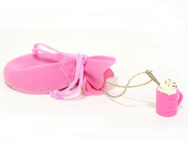 Candy pink velvet bag