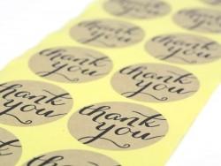 """12 Sticker mit der Aufschrift """"Thank you"""""""