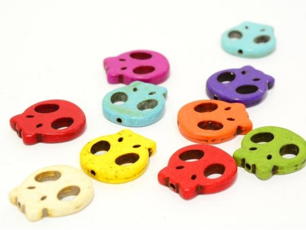 Acheter 20 perles tête de mort Skulls plates - 5,20€ en ligne sur La Petite Epicerie - Loisirs créatifs