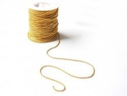 1 m goldfarbene Kugelkette - 1,5 mm