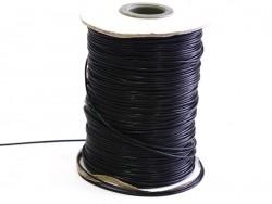 1 m gewachste Polyesterschnur - schwarz