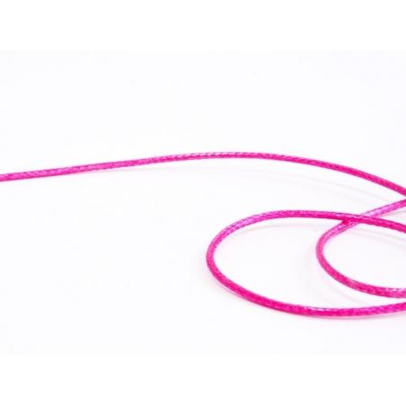 1 m de fil polyester ciré - rose fushia