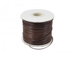1 m de fil polyester ciré - marron foncé