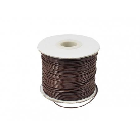 1 m of polyester cord - dark brown