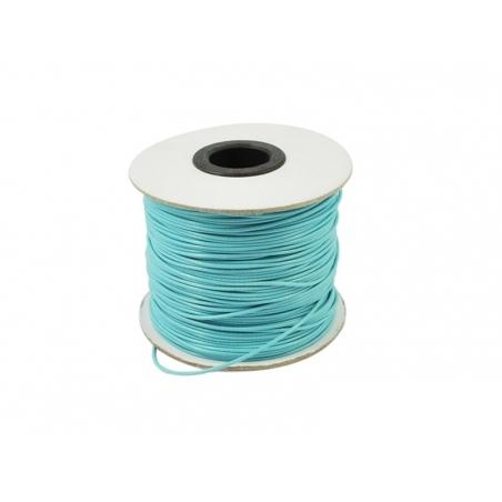 1 m de fil polyester ciré - turquoise  - 2