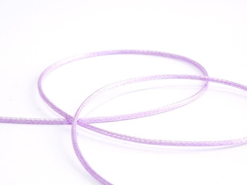 1 m de fil polyester ciré - violet pastel  - 1