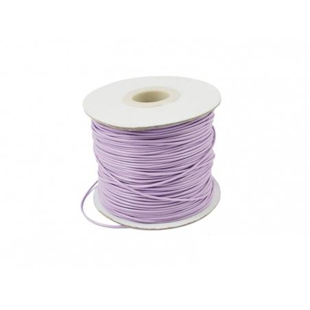 1 m de fil polyester ciré - violet pastel  - 2