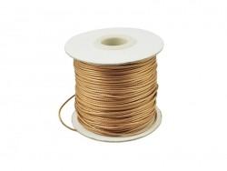 1 m de fil polyester ciré - beige doré