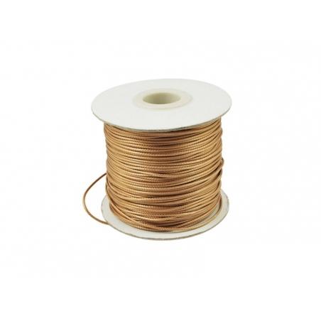 Acheter 1 m de fil polyester ciré - beige doré - 0,69€ en ligne sur La Petite Epicerie - Loisirs créatifs