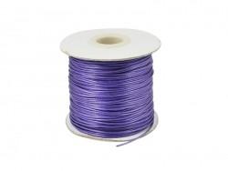 1 m de fil polyester ciré - violet