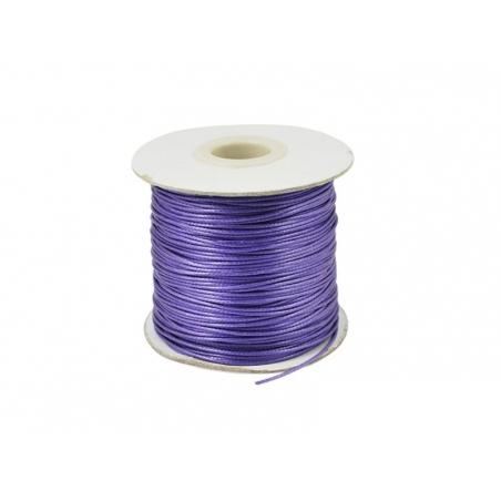 1 m de fil polyester ciré - violet  - 2