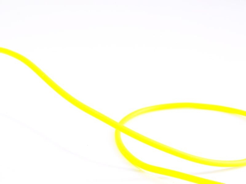 1 m of solid rubber scoubidou string - yellow