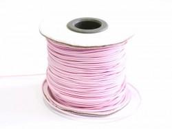 1 m de fil polyester ciré - rose pastel  - 2