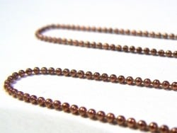 Copper-coloured ball chain (1 m) - 1.5 mm
