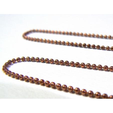 Acheter Chaine bille cuivrée 1,5 mm x 20 cm - 0,40€ en ligne sur La Petite Epicerie - Loisirs créatifs
