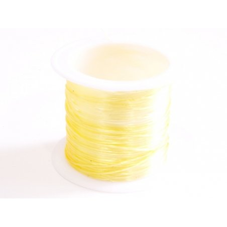 12 m of shiny elastic cord - golden beige