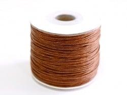1 m de fil de coton ciré - chocolat
