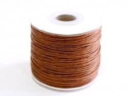 1 m gewachste Baumwollschnur - schokoladenfarben