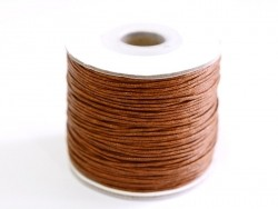 1 m of waxed cotton thread - chocolate