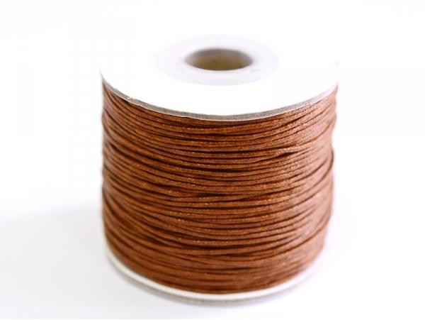 1 m de fil de coton ciré - chocolat  - 1