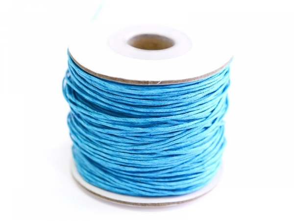 1 m of waxed cotton thread - turquoise
