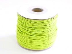 1 m de fil de coton ciré - vert pomme