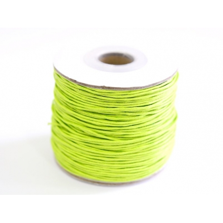 1 m of waxed cotton thread - apple-green