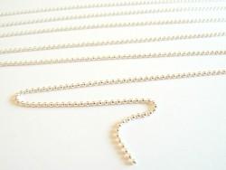 1m chaine bille - couleur argent clair 1,5 mm