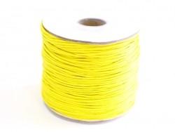 1 m gewachste Baumwollschnur - gelb