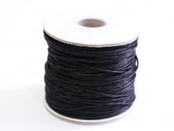 1 m gewachste Baumwollschnur - schwarz
