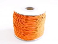 1 m of waxed cotton thread - orange