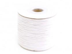 1 m gewachste Baumwollschnur - weiß