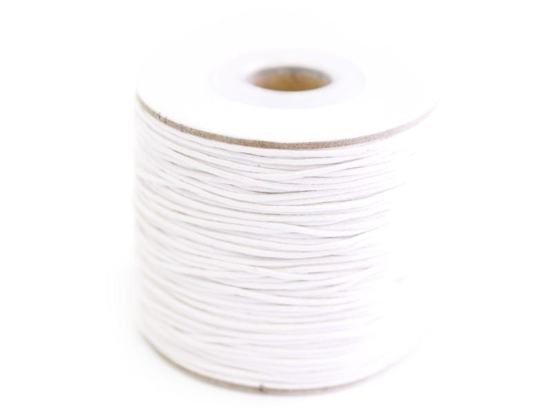 1 m of waxed cotton thread - white
