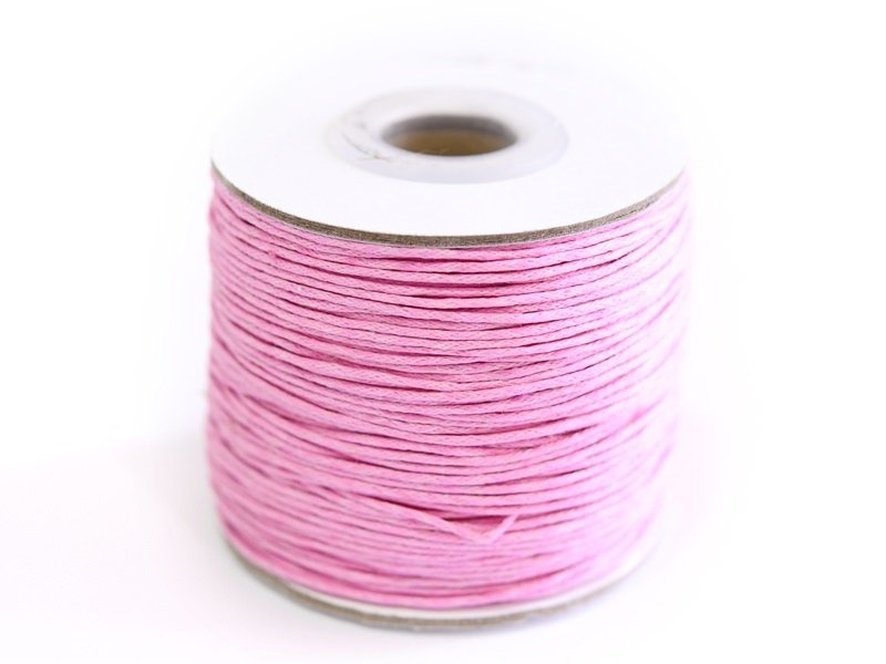 1 m de fil de coton ciré - rose pale