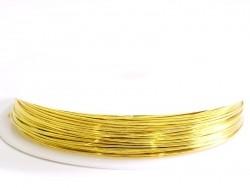 9 m Kupferdraht, 0,5 mm - goldfarben