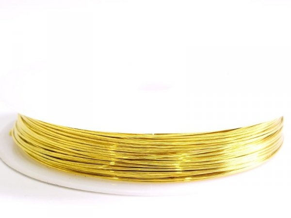 9 m of copper wire, 0.5 mm - golden