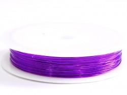 9 m de fil de cuivre 0,5 mm - violet  - 1
