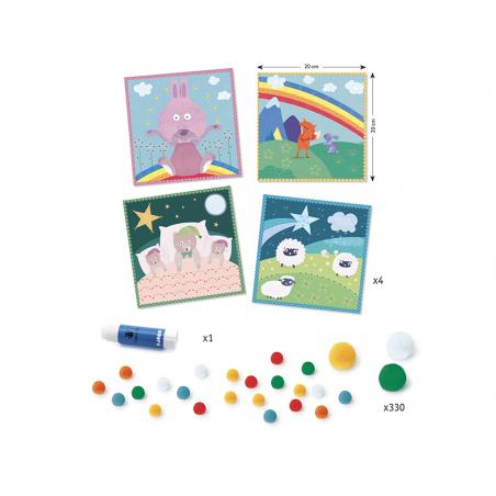 Acheter Tableaux de pompons - En douceur - 12,49€ en ligne sur La Petite Epicerie - Loisirs créatifs