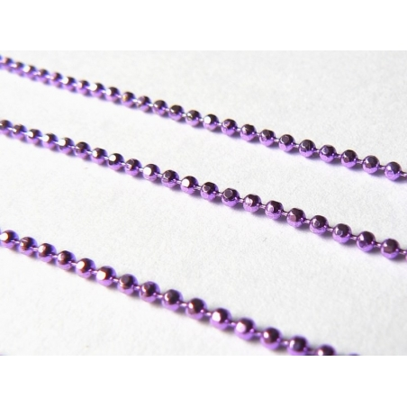 Purple ball chain (1 m) - 1.5 mm