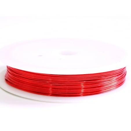 Acheter 9 m de fil de cuivre 0,5 mm - rouge - 3,50€ en ligne sur La Petite Epicerie - Loisirs créatifs
