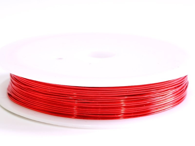 9 m of copper wire, 0.5 mm - red