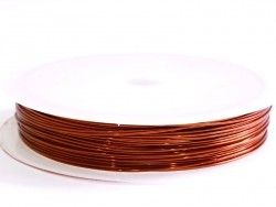 9 m of copper wire, 0.5 mm - copper-coloured