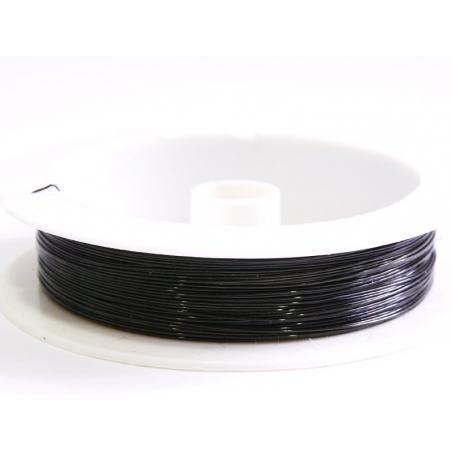 9 m de fil de cuivre 0,5 mm - noir